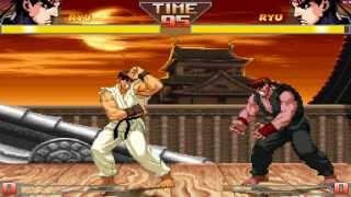 getlinkyoutube.com-Street Fighter HD Mugen - Ryu vs Evil Ryu Gameplay Footage!!