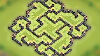 getlinkyoutube.com-Clash of clans - Town hall 9 (TH9) New best Farming base 2015 [The slit] Speed build