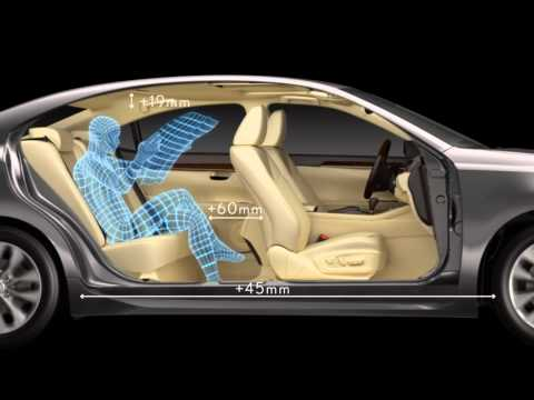 Lexus ES. Комфорт пассажира на заднем сиденье