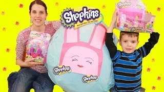 getlinkyoutube.com-Shopkins GIANT Surpirse Egg Mega Super BIG Largest Shopkin Collection Blind Bag Basket Season 2