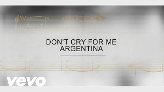 Track By Track - Don't Cry For Me Argentina
