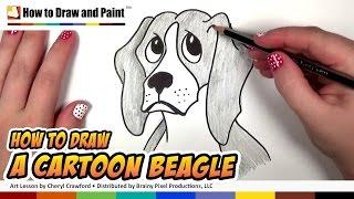 getlinkyoutube.com-How to Draw a Beagle | Dog Drawing Lesson - CC