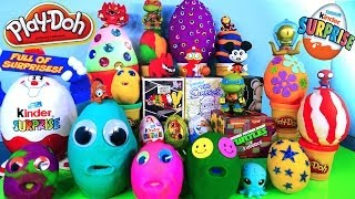 getlinkyoutube.com-20 Play Doh Eggs Disney Planes Cars Mickey Mouse Vinylmation Simpsons MLP Toys Kinder Surprise Egg