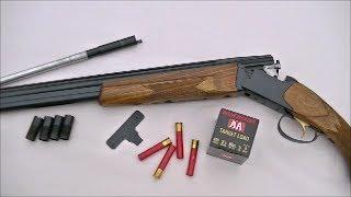 "getlinkyoutube.com-Pattern Testing the Savage ""Four Tenner"" .410 Shotgun Gauge Adapter"