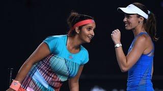 getlinkyoutube.com-Hingis/Mirza v Goerges/Pliskova highlights (SF)   Australian Open 2016