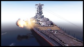 getlinkyoutube.com-Biggest Battleship Ever Built - IJN Yamato vs USS Iowa | Men of War Assault Squad 2 Mod Gameplay