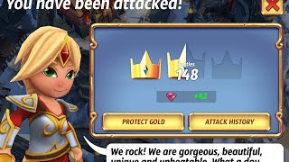 getlinkyoutube.com-Royal Revolt 2 Jason W defense base tour lots of free gems lv 73