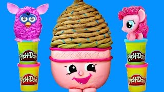 getlinkyoutube.com-MEGA Shopkins Egg Surprise Play Doh Toys Frozen My Little Pony Furby Barbie LPS Eggs with DCTC