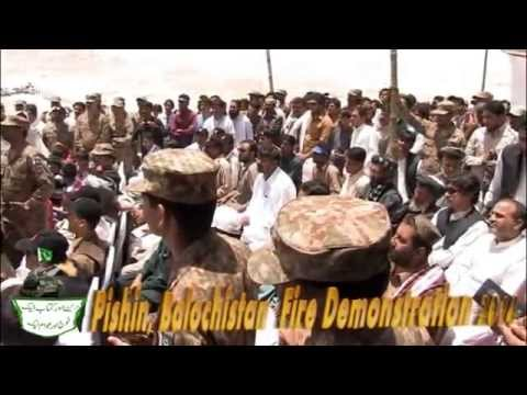 Firing Demonstration FF SC Address in Pishin 2014 -  Balochistan