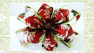 getlinkyoutube.com-Flores y Moños de Navidad Christmas flowers and ribbons