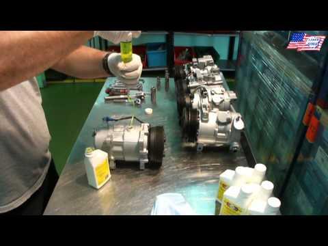 Zalewanie olejem kompresora klimatyzacji Sanden SD7V16