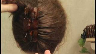 getlinkyoutube.com-Easy hairstyles.  Why use an ugly plastic claw to put up your hair?