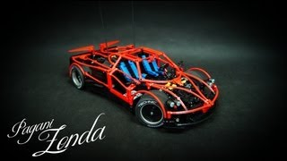 getlinkyoutube.com-Lego Technic Motorized Pagani Zonda