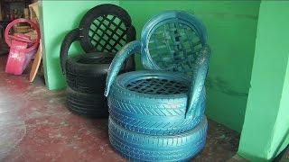 getlinkyoutube.com-Miles de neumáticos son utilizadas para crear obras de arte