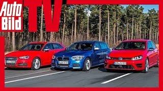 getlinkyoutube.com-VW Golf R vs. Audi S3 vs. BMW M135i