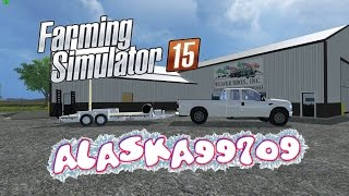 getlinkyoutube.com-Farming Simulator 15 mod talk ford f-350 and trailer