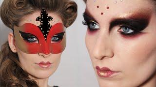getlinkyoutube.com-TWO LOOKS #3 | Venetian Mask - Carnival MakeUp & Hair Tutorial