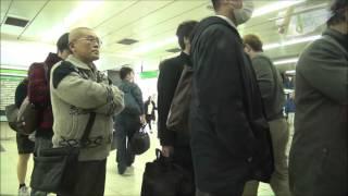 getlinkyoutube.com-【60fps車窓】山手線E235系 営業一番電車 大崎~品川 オーバーランあり