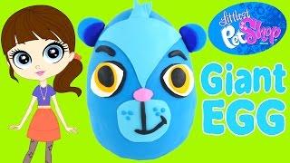 getlinkyoutube.com-HUGE Littlest Pet Shop Surprise Egg ★ LPS Play Doh Sunil Shopkins Powerpuff Girls DCTC