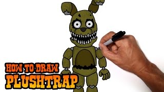 getlinkyoutube.com-How to Draw Plushtrap (FNAF 4)- Step by Step