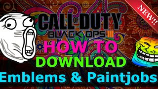 getlinkyoutube.com-Call Of Duty Black Ops 3: How To Download Emblems & Paintjobs GLITCH