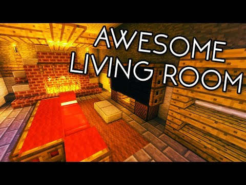Minecraft Tutorial #15 - How to Build an Awesome Living Room (HD)