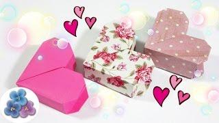 getlinkyoutube.com-Origami: Cajas de Regalo Originales Corazon de San Valentin Cajas de Papel Faciles Pintura Facil