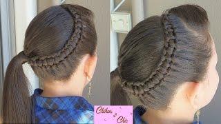 getlinkyoutube.com-Line Braid wrapping around!! - Line Braid into a side Ponytail!! | Chikas Chic