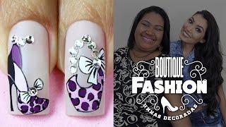 getlinkyoutube.com-Unhas Decoradas da Moda com Sapatinho e Bolsa Fashion | Cola na Villar
