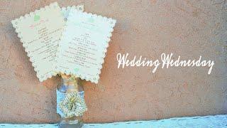 DIY Wedding Programs  {Wedding Wednesday}