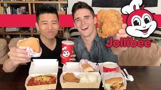 JOLLIBEE Filipino Fast Food (Mukbang / Eating Show)