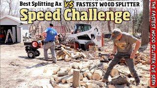 The Best Splitting Ax VS the Fastest wood Splitter