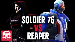 getlinkyoutube.com-SOLDIER 76 VS REAPER RAP BATTLE by JT Machinima