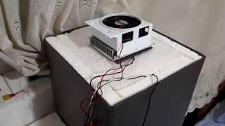 getlinkyoutube.com-Homemade Camping Refrigerator Peltier 70W