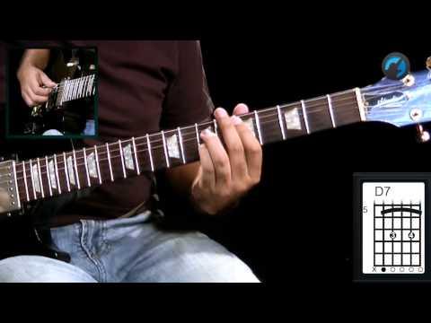 Tríade com Sétima em Acorde Blues (aula de guitarra)