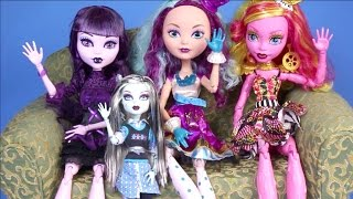 getlinkyoutube.com-New Monster High Dolls Collection 2015 Video 17 Inch Dolls Unboxing Review Ever After High Elissabat