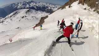 getlinkyoutube.com-Descente ski alpe d'huez par tunnel 3330m à 1840m
