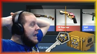 getlinkyoutube.com-CS:GO Revolver Case Openings! Factory New R8 Revolver Fade Unboxing Reaction!