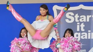 getlinkyoutube.com-[4K動画] 炸裂するVジャンプを見逃すな!チアドラ2009が1日限りの復活ダンス!!