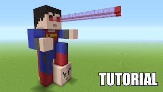 getlinkyoutube.com-Minecraft Tutorial: How To Make A SUPERMAN Statue!! (Batman V Superman)