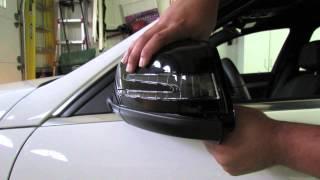 getlinkyoutube.com-Mercedes Benz Mirror Cover Removal
