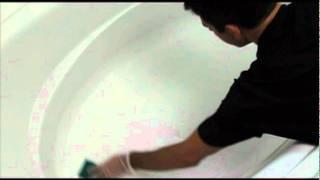 getlinkyoutube.com-Make your bathtub Non-Slip using Johnny Grip