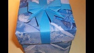 getlinkyoutube.com-Подарочные Коробки Своими Руками Без Клея и Ножниц. Origami Box