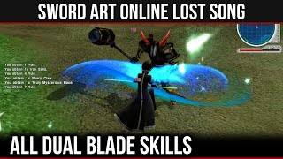 getlinkyoutube.com-All Dual Blade Weapon Skills & Gameplay in SAO: Lost Song