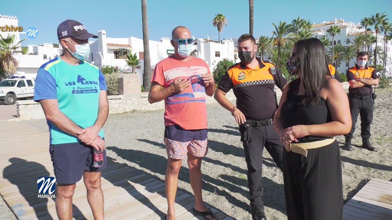 Limpieza de fondos marinos en La Chullera