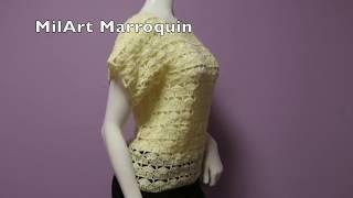 getlinkyoutube.com-Blusa para Principiantes Crochet