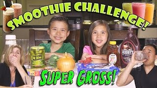 getlinkyoutube.com-SMOOTHIE CHALLENGE! Super Gross Smoothies - GOTTA DRINK IT ALL!