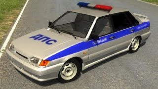 getlinkyoutube.com-BeamNG.Drive Mod : Lada VAZ 2115 Police (Crash test)