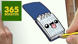getlinkyoutube.com-COMO DIBUJAR LIBRETA KAWAII PASO A PASO - Dibujos kawaii faciles - How to draw a notebook