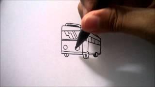 "getlinkyoutube.com-CARA MENGGAMBAR BUS DARI HURUF ""F"" | HOW TO DRAW A BUS FROM A LETTER ""F"""
